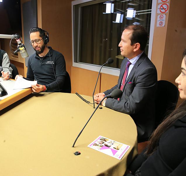 Participarón en el programa UAM Radio itinerante en tu Unidad Lerma.  Foto: Archivo UAM-DCS / Alejandro Juárez Gallardo.