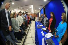 Inauguración del Foro Perspectivas de la 4T para la educación superior.  Foto: Archivo UAM-DCS / Alejandro Juárez Gallardo.