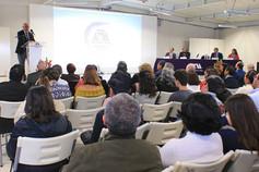 """La doctora expuso el tema """"La innovación tecnológica aplicada al desarrollo educativo"""", como parte del ciclo Conferencias Magistrales Metropolitanas en la Unidad Lerma, en la celebración de su décimo aniversario.   Foto: Archivo UAM-DCS / Alejandro Juárez Gallardo."""