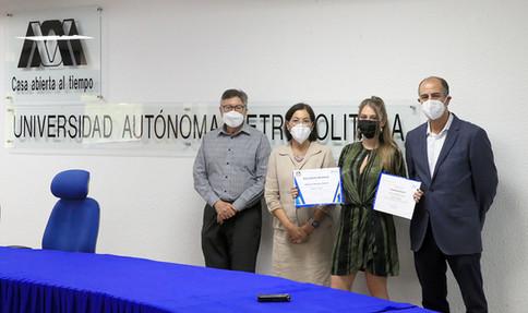 Egresada de la Licenciatura en Diseño Industrial de la UAM fue reconocida por la Rectoría de la Unidad Xochimilco y el despacho especializado en propiedad industrial Jalife Caballero y Asociados