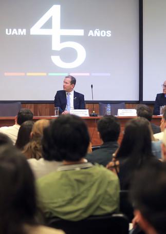 Primera Reunión Alumni Alemania en la UAM.  Foto: Archivo UAM-DCS / Alejandro Juárez Gallardo.