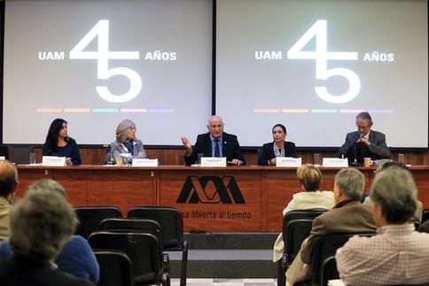 Foro 45 años de la UAM: retos y futuro.  Foto: Archivo UAM-DCS / Alejandro Juárez Gallardo.