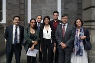 Lic. Sergio Padilla Meneses, Mtra. Elia Aquino Moreno, Dr. Joaquín Flores, egresada Naomi Trechuelo, egresado Ranulfo Varela, Dr. Fernando de León y M. En C.Q. Olivia Soria