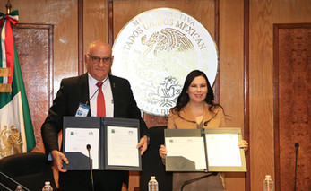 Dr. Eduardo Peñalosa Castro y Dip. Laura Angélica Rojas Hernández