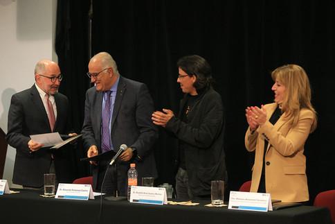 Dr. José Ramón Cossío Díaz, Dr. Eduardo Peñalosa Castro, Dr. Rodolfo Suárez Molnar y Dra. Mariana Moranchel Pocaterra