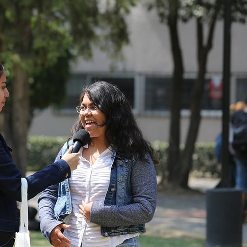UAM Radio 94.1 FM itinerante. En vivo desde tu unidad. Transmisión desde la Unidad Xochimilco de la Universidad Autónoma Metropolitana.   Foto: Archivo UAM-DCS / Michael Rivera Arce.