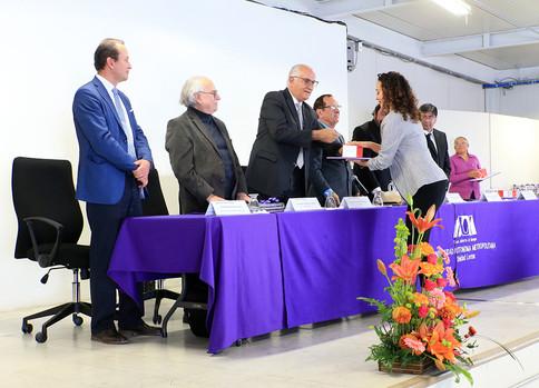 Entrega de Medalla al Mérito Universitario, Ganadores del Diploma a la Investigación 2019 y reconocimientos por años de servicio.  Foto: Archivo UAM-DCS / Alejandro Juárez Gallardo.