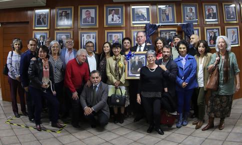 La ceremonia de nombramiento como Profesor Distinguido del doctor Ricardo Alberto Yocelevzky Retamal se llevó a cabo en la Sala de Consejo Académico de la Unidad Xochimilco de la Universidad Autónoma Metropolitana.  Foto: Archivo UAM-DCS /  Michaell Rivera Arce.