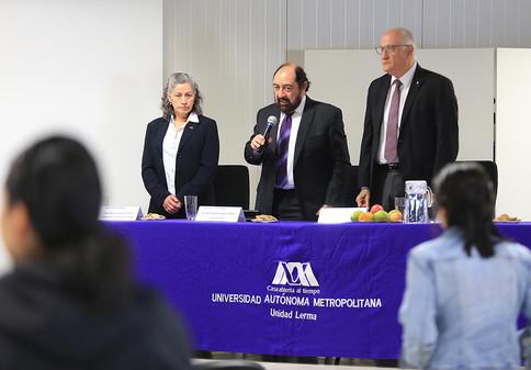 Inauguración de la primera jornada de innovación educativa.  Foto: Archivo UAM-DCS / Alejandro Juárez Gallardo.