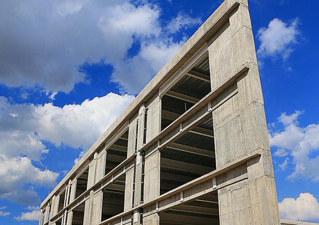 Conjunto de edificios N, O y P de la Unidad. 04_02_2015.  Foto: Archivo UAM-DCS / Alejandro Juárez Gallardo.