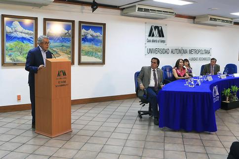 Toma de posesión de la maestra María Dolly Espínola Frausto como directora de la División de Ciencias Sociales y Humanidades por el periodo 2019-2023.  Foto: Archivo UAM-DCS / Alejandro Juárez Gallardo.