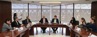Firma de convenio UAM – Sistema Público de Radiodifusión de la CDMX.  Foto: Archivo UAM-DCS / Alejandro Juárez Gallardo.