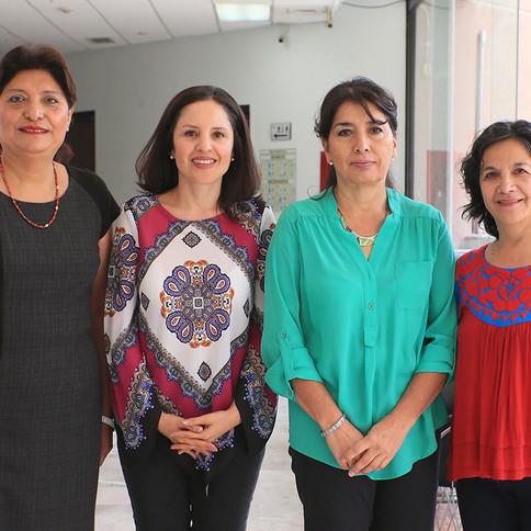 Martha Silva Galván, Aleida Azamar, Graciela Carrillo y Gisela Espinosa