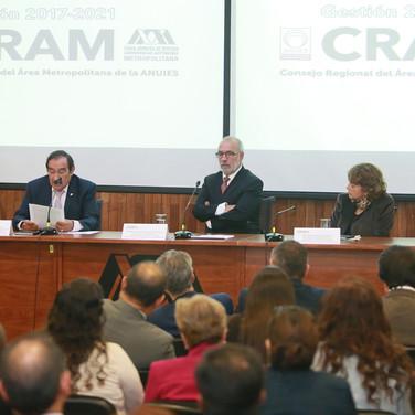 Dr. Romualdo López, Dr. Roberto Rodríguez, Dra. Rosaura Ruiz y Dr. Eduardo Peñalosa