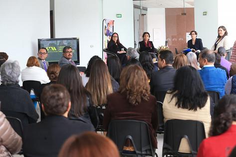 Dra. Cecilia Colón Hernández, Dra. Elsa Muñiz García, Dra. Alejandra Osorio y Mtra. Liliana Elvira Moctezuma.