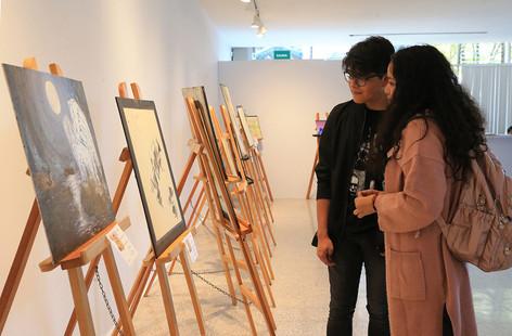 Exposición de pintura y dibujo Coordenadas de identidad.  Foto: Archivo UAM-DCS / Alejandro Juárez Gallardo.
