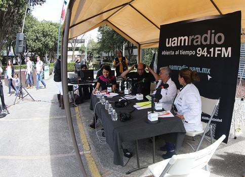 UAM Radio 94.1 FM En vivo desde tu unidad. Transmisión desde la Unidad Iztapalapa.   Foto: Archivo UAM-DCS / Michaell Rivera Arce.