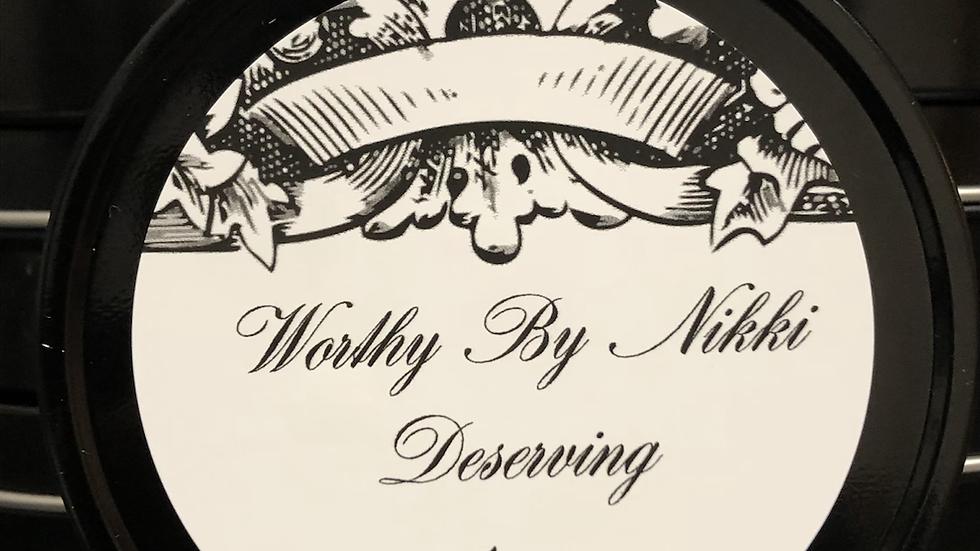 "Worthy By Nikki  4.oz ""Deserving"" Travel Tin"