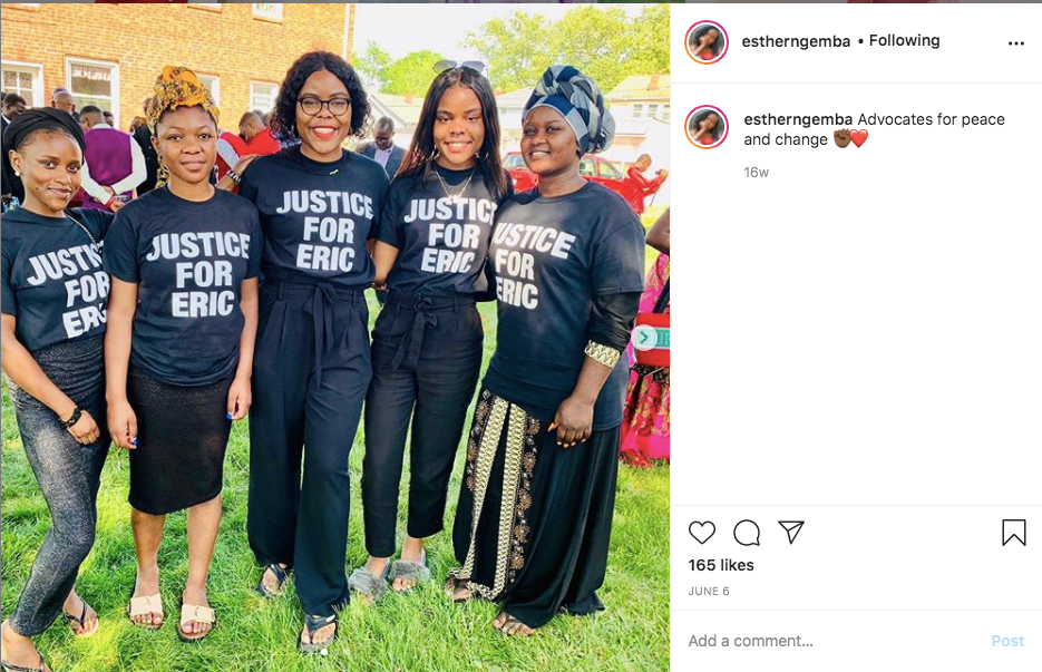 young black women protesting for black lives matter.