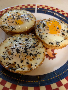 Baked Eggs with Red Potato