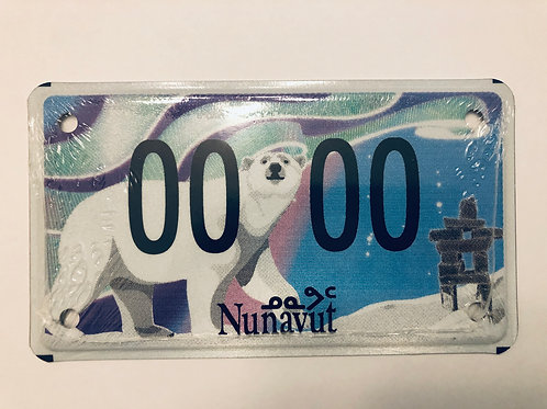 Mini Nunavut Licence Plate