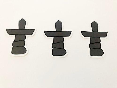 Set of 3- Inuksuk Stickers