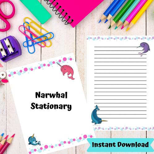 NARWHAL Stationary -Printable