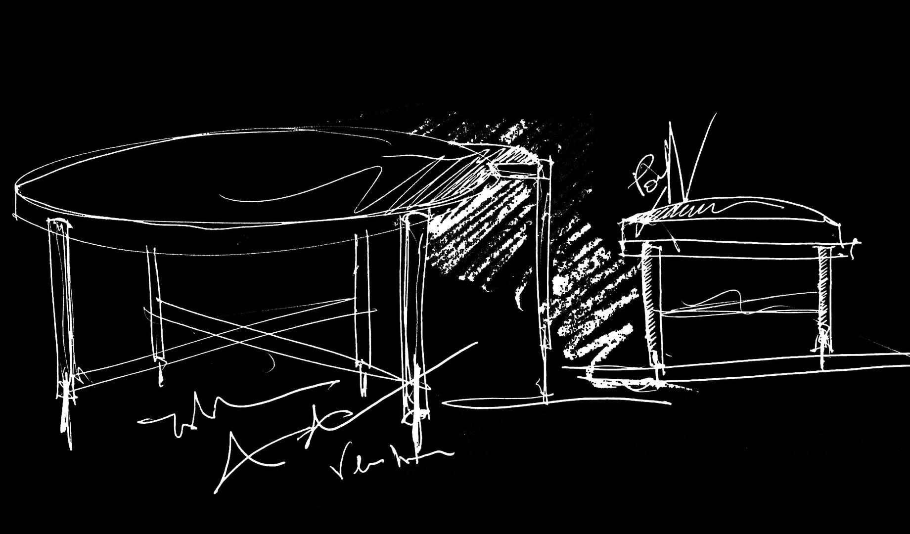 ELIE SAAB Maison: Zenith Low table & Pouf