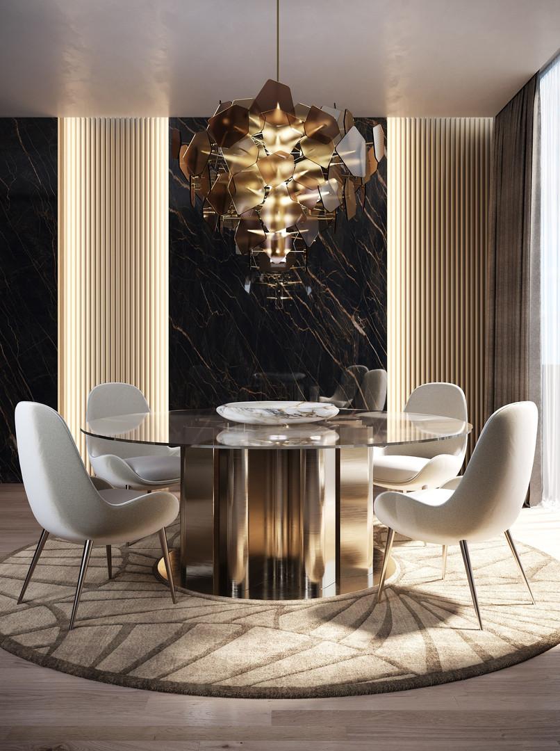 ELIE SAAB Maison: Dunes Glass Top Table