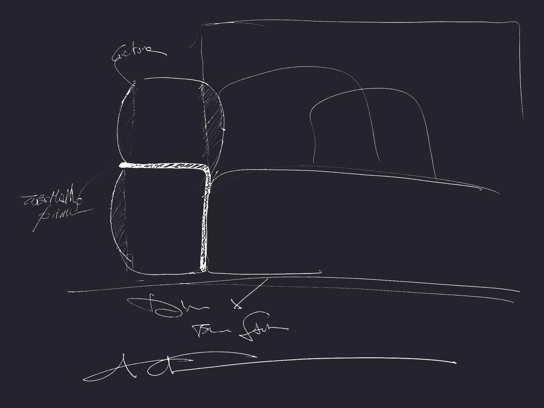 Elie Saab Maison: Byblos Sofa - Sketch Carlo Colombo
