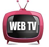 Desenho de uma televisão rosada