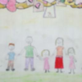 desenho infantil e familia.