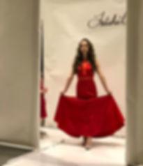 model on catwalk.