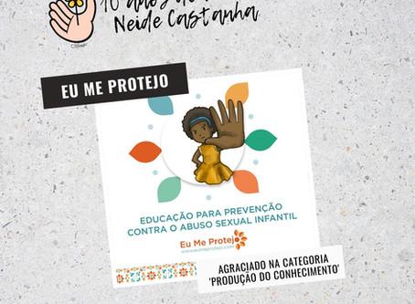 Projeto Eu Me Protejo recebe prêmio Neide Castanha de direitos humanos