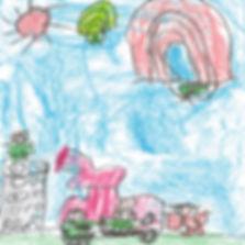 desenho infantil colorido mostrando familia.