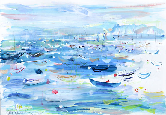 The moorings Mylor Harbour