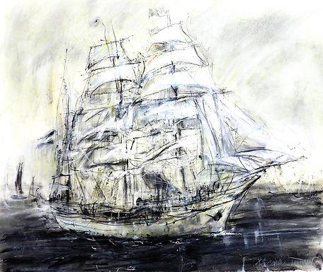 Tall Ship (Charcoal) III