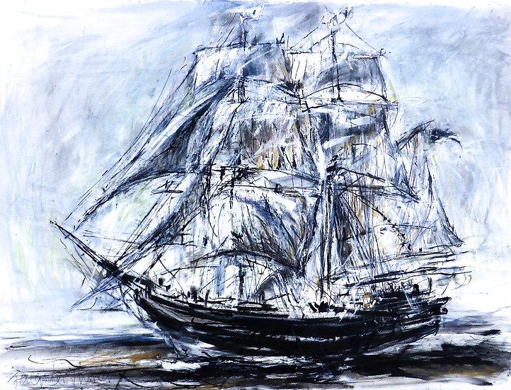 Tall Ship (Charcoal) IV