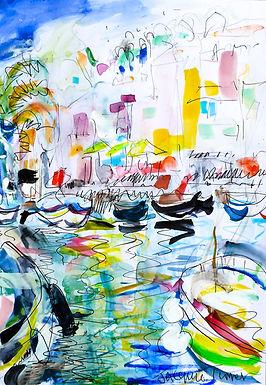 Boats in Sanary-sur-mer Cote d'Azure
