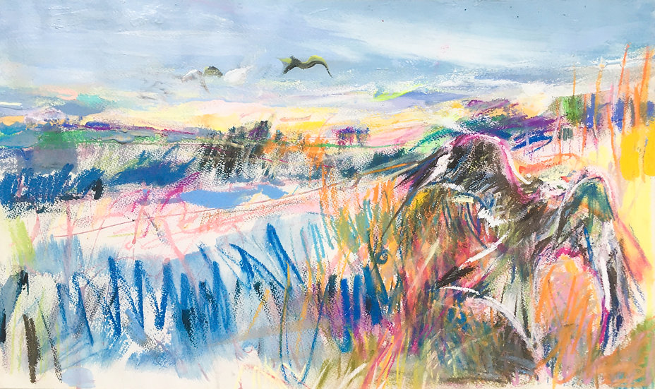 Study for Chiltern Hills with Red Kites