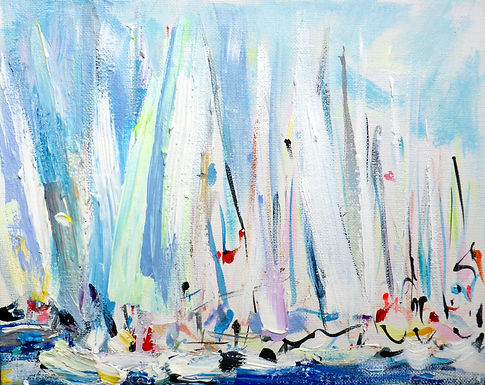 Start Line (White Sails) VIII (A)