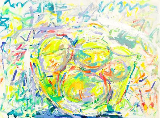 Glass Bowl with Lemons 2