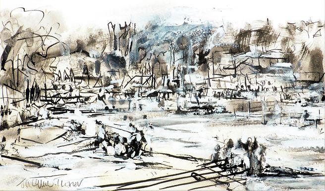 Ink Sketch - Henley Regatta 1