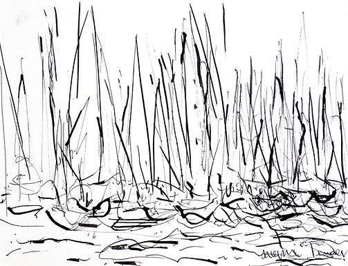 Start Line (White Sails) ink 3