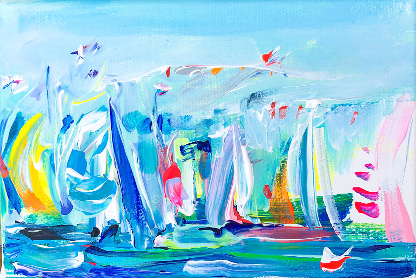 Regatta with flags 1