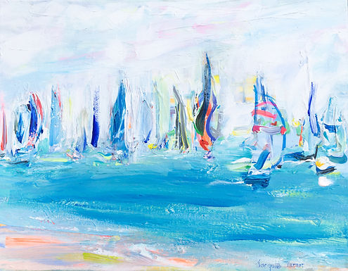 Cowes Week - Race passing the beach