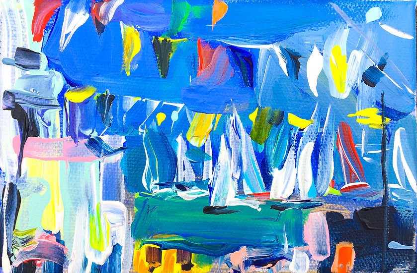 Regatta with flags 2