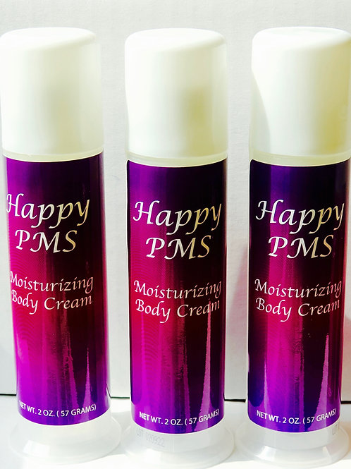 3PK-Happy PMS Moisturizing Body Cream 2 oz. Pump
