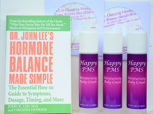 3 Pumps Happy PMS, CD set Hormone Balance Bk