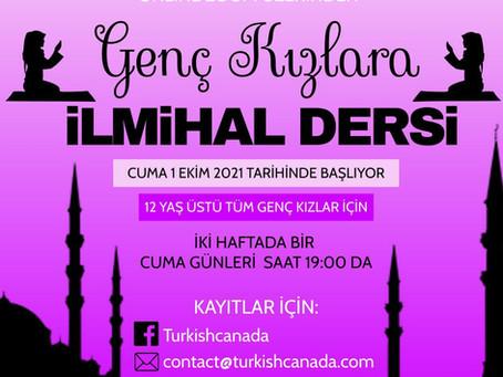 Genç Kızlarımıza İlmihal Derslerimiz / Islamic Studies Classes for Young Girls